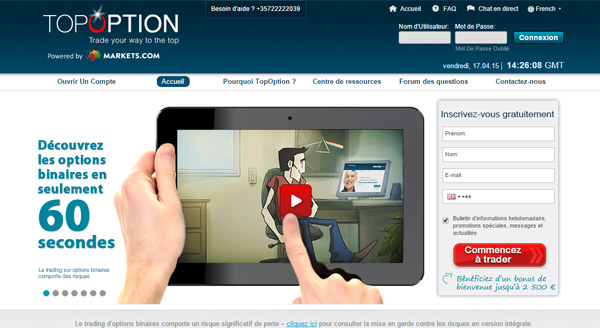 Avis sur les options binaires de topoption
