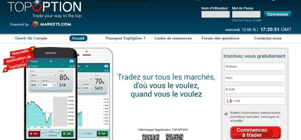 options binaires sur mobile