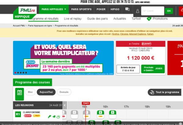 gains réels sur les sites Internet
