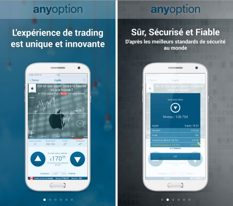 options binaires sur smartphone