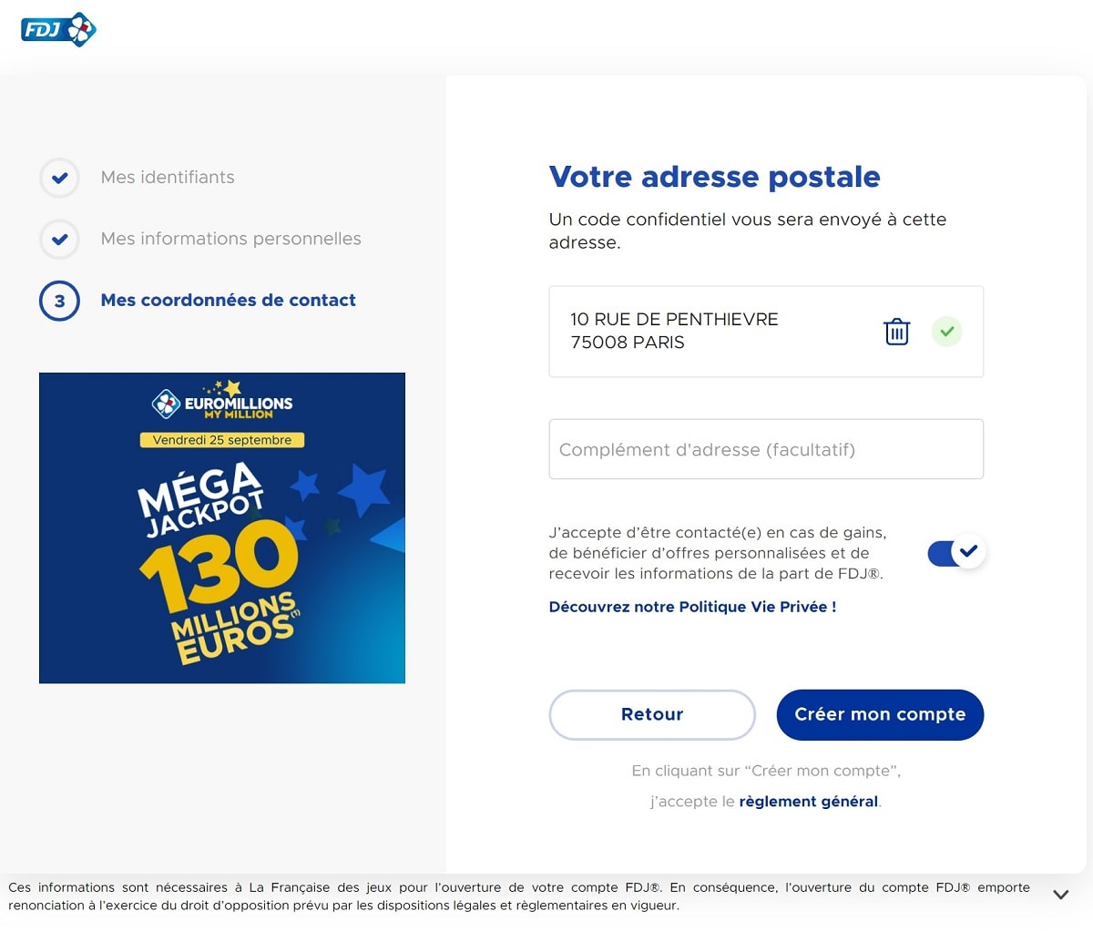 gains en ligne via Internet