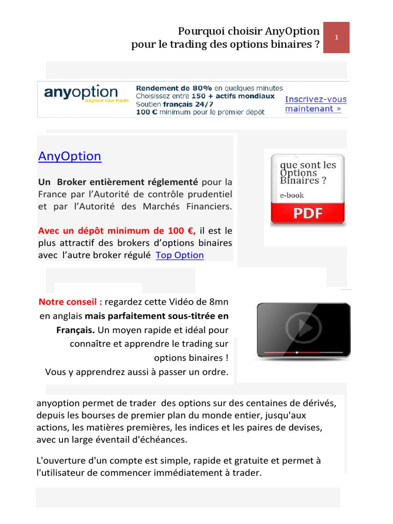 Trading D'options Binaires - chezwat.fr