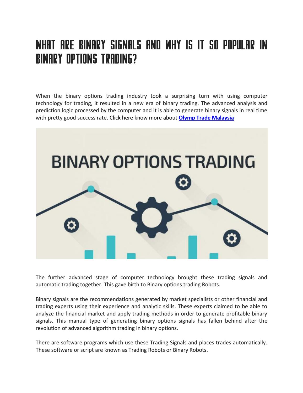 avis sur les options binaires olimp trade)