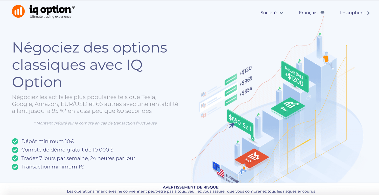 options dépôt minimum 1)