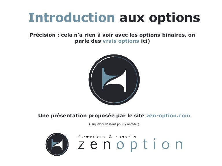 introduction des options