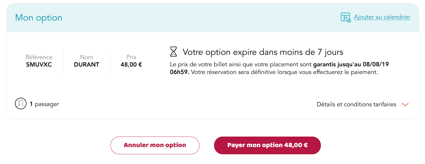 option expirée option à long terme