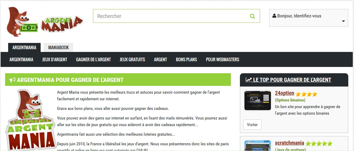 site Web faire de largent avis)